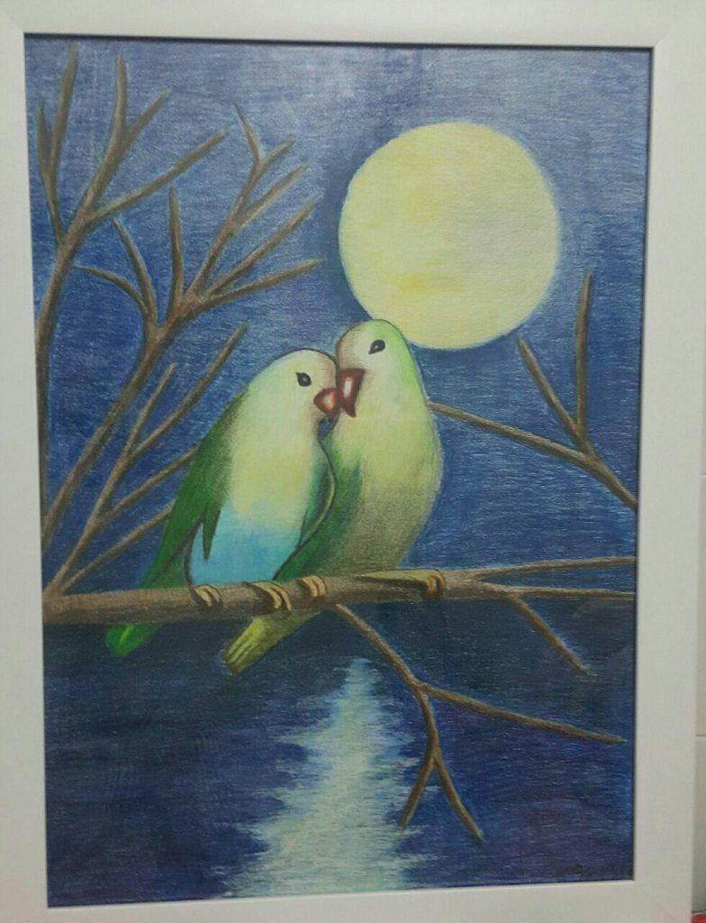 پرندگان عاشق و فاطمه حمامی نقاش