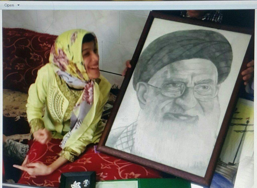 رهبر ایران و فاطمه حمامی